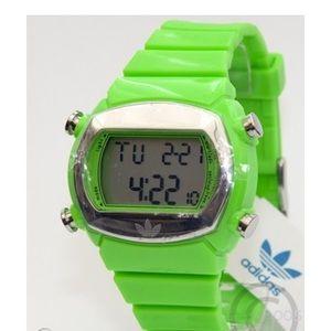 ADIDAS VIBRANT GREEN RUBBER DIGITAL WATCH ADH-6037